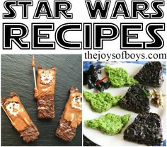 Jedi's everywhere will love these creative Star Wars Recipes. Use the Force to whip up some of these tasty treats for your next Star Wars Party.