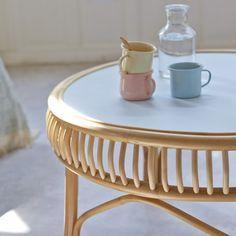 Table basse en rotin 70 Zélie Ratan Furniture, Cane Furniture, Bamboo Furniture, Solid Wood Furniture, Rattan Side Table, Rattan Coffee Table, Rattan Sofa, Home Living Room, Decorative Objects