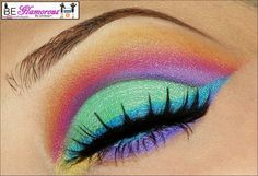 a rainbow of brights!! #BeGlamorousByLindsey