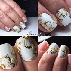 Spring Nail Designs - My Cool Nail Designs Elegant Nail Designs, Nail Designs Spring, Cool Nail Designs, New Nail Art, Flower Nail Art, Bridal Nails, Nail Polish Designs, Nail Stamping, Nail Arts