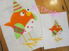 Googly Eyed Birds 05 Embroidery