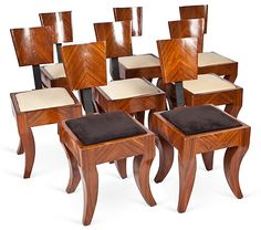 .Set Of Art Deco dining chairs