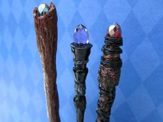 Dollhouse miniature Wizard's Magic Staff in by LittleWooStudio