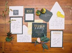 invites+advice stationary for photo booth