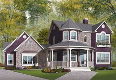 House Plan #23-749  1936 sq ft Traditional Style