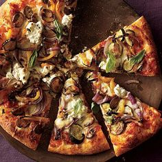 Swap Cheeses, Add Veggies for a Lighter Pizza - Roasted vegetable and ricotta pizza   Cookinglight.com