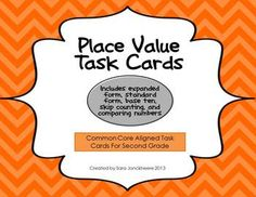 Place Value Overview Task Cards for Second Grade - Common Core Aligned