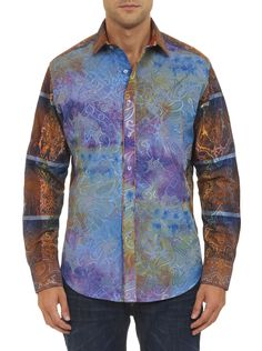 This paisley is so perfect it has to be in limited edition. With a jacquard check print, ornate paisley overlay and statement making metallic embroidery in (of course) paisley on the back…not to mention tons of extra details like silk brocade on the cuff and neckband and seriously stylish shell buttons, you'd be crazy not to get in on this premium paisley.
