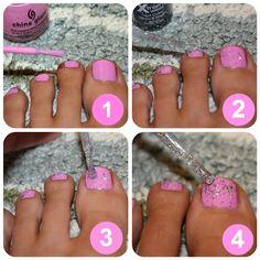 blushing basics: Sparkle Dipped Pedicure