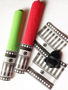 Star Wars Party Favor Lightsaber Napkin Wraps Printable ~ Star Wars Birthday Party Inspired Decorations & Decor
