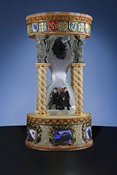 San Francisco Music Box Harry Potter Ron Weasley and Hermione Granger with Dementro Hourglass Snow Globe