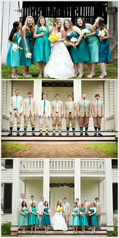 Turquoise & Yellow from Budget Savvy Bride