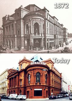 Before and today, past and present. Theater, Cultural Events, Vienna, Austria, Travel Guide, Opera, Musicals, Past, Louvre
