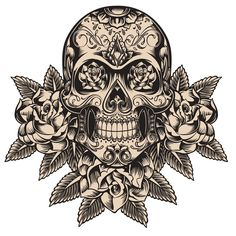 If you are seeking some seriously scary illustrations today, you've come to the right place. We're going to take a look at a selection of dark, gruesome, gloomy, freaky and absolutely inspiring vector skulls! The market for grunge and edgy designs is huge, so these illustrations will surely be of help in your present or future projects.