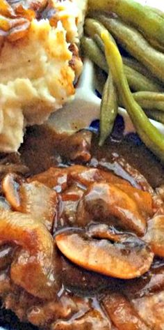 Cube Steak with Mushroom and Onion Beef Gravy