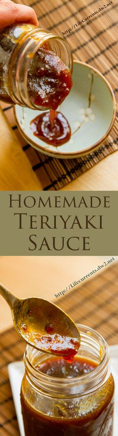 Easy Homemade Teriyaki Sauce Recipe uses ingredients I always. Easy Homemade Teriyaki Sauce Recipe uses ingredients I always have in my the pantry. Homemade Teriyaki Sauce, Homemade Sauce, Homemade Butter, Homemade Recipe, Sauce Recipes, Cooking Recipes, Cooking Sauces, Comida Diy, Salsa Dulce