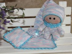 Handmade Doll with Blanket & Pillow amigurumi doll Plush Doll