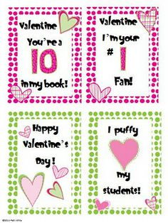 Valentine's Day Cards Freebie - Re-pinned by @PediaStaff – Please Visit http://ht.ly/63sNt for all our pediatric therapy pins