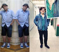 Inspirações de homens gordos e estilosos. Estilo plus size para homens. Dicas para homens gordos.