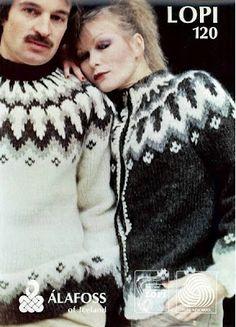 Islina Garn och Design (Islina Yarn and Design) - Pattern - LOPI 120 - Icelandic Knitted Sweater in Lopi Vintage Knitting, Free Knitting, Baby Knitting, Icelandic Sweaters, Wool Sweaters, Fair Isle Knitting Patterns, Knit Patterns, Skinny Jeans Kombinieren, Sweater Design