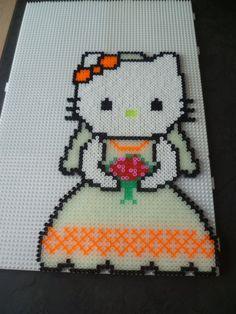 Hello kitty bride hama beads by mamypapou