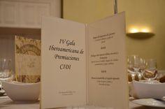 Menu Gala Premiaciones CIDI