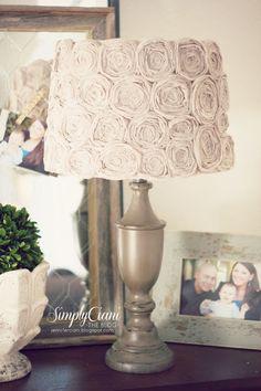 Simply Ciani: Diy Shabby Chic Rosette Lamp Shade