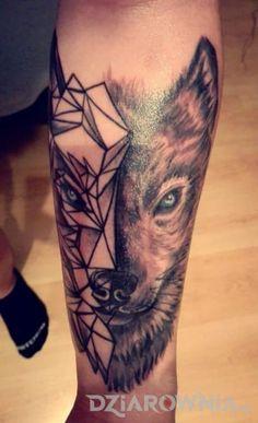 Tatuaże zwierzęta, na przedramieniu, dla mężczyzn: tatuaż
