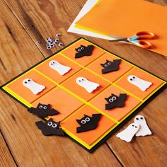 A spooky, Halloween inspired Tic-Tac-Toe board is the perfect craft for kids. Don't forget to play with friends and family.
