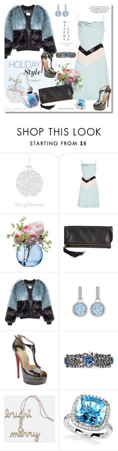 """""""Holiday Style"""" by vkmd ❤ liked on Polyvore featuring mode, HUISHAN ZHANG, LSA International, HOBO, Christian Louboutin, CZ by Kenneth Jay Lane, Unison, Allurez, Christian Dior en holidaystyle"""