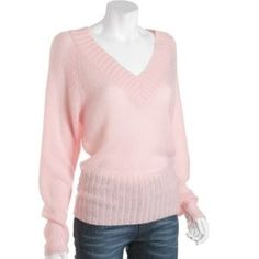 pink sweater   light pink double v-neck sweater   review   Kaboodle