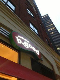 b.good in Boston, MA has #vegan veggie burgers & quinoa bowls