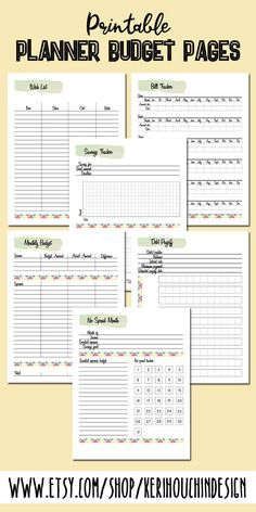 Printable Planner Budget Add-on Pages Time to get your finances in order once and for all. This set Planner Tips, Free Planner, Monthly Planner, Planner Pages, Printable Planner, Printables, Planner Template, Monthly Budget Worksheet, Budgeting Worksheets