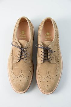 Alden buff suede wing tips (14) Menswear | Tumblr