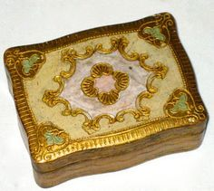 Vintage Florentine wood box made in Italy