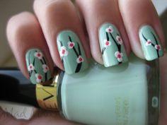 peppermint colour nails