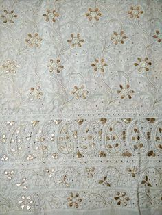 white cotton gota patti and pearls work lucknowi chikankari suits buy online