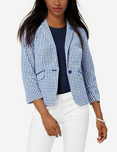 #starspangledstyle #LTDpromo I love ginham, this blazer is so cute!