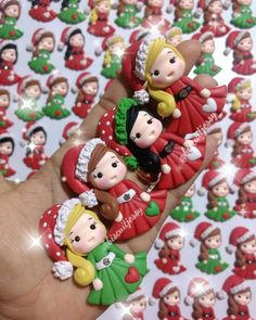 Polymer Clay Halloween, Fimo Clay, Polymer Clay Crafts, Christmas Decorations, Christmas Ornaments, Holiday Decor, Pasta Flexible, Air Dry Clay, Cold Porcelain