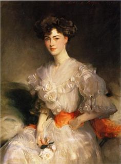 Maud Coats - John Singer Sargent, 1906 I wonder why he painted blush on one side of her face but not on the other.