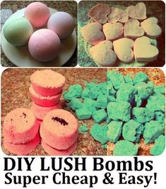 Homemade Natural LUSH Bath Bombs / Fizzies Recipe (DIY St. Valentine's Day, Christmas, or Birthday Gift Idea - Super Cheap and Easy! http://www.mariasself.com/2012/02/diy-saint-valentines-craft-homemade.html