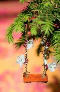 Add a tiny swing for the Christmas fairies :)