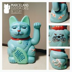 Custom maneki neko by marceland. www.marcelandcustom.com