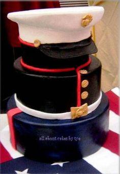 Amazing Marine cake for a groom's cake Pretty Cakes, Cute Cakes, Beautiful Cakes, Amazing Cakes, Take The Cake, Love Cake, Cake Cookies, Cupcake Cakes, Marine Cake