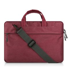 Canvas Laptop Bag Sleeve Case for MacBook Air 13 inch 11 Pro Retina 12 13 15 handle shoulder strap AKR notebook bag