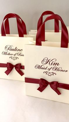 Elegant Burgundy personalized gift bags for Bridal party favors and gifts for bridesmaids, maid of honor, flower girl, matron of honor. party roles Bridesmaids Gift Bags Ivory Wedding Party Bag with satin Groomsmen Gift Bags, Bridesmaid Gift Bags, Wedding Gift Bags, Wedding Favors For Guests, Personalized Wedding Favors, Destination Wedding Welcome Bag, Wedding Welcome Bags, Bridal Shower Favors, Party Favors