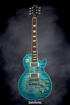 Gibson Les Paul Standard Plus - Ocean Water, 2014 Check out our Electric Guitar Reviews & Best Deals: guitarjunkiestore.com