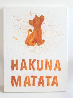 FREE SHIPPING 12x18 Hakuna Matata Canvas by PaintingbyMorganRose