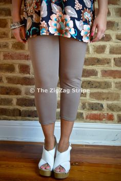 Mocha Capri Skinnies – The ZigZag Stripe. Use coupon code ZZS72 to save 10%, and shipping is free! http://www.zigzagstripe.com?afmc=ZZS72