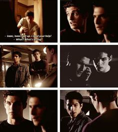 """""""Riddled"""" - Scott and Isaac I'M SO GLAD THIS IS A THING! Can we just talk about how great this bromance is and how Isaac is like a brother to scott and how Melissa is so chill with him still living there even though it has to be more exspensive? Dread Doctors, Teen Wolf Seasons, Wolf Stuff, Teen Tv, Tyler Posey, Scott Mccall, Stydia, Fandoms, Best Series"""